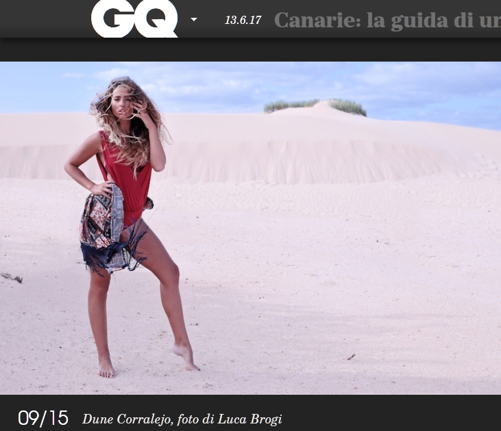 Shooting at Las Dunas Fuerteventura for GQItalia